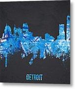 Detroit Michigan Usa Metal Print by Aged Pixel