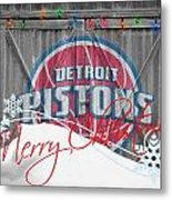 Detroit Pistons Metal Print by Joe Hamilton