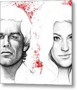 Dexter And Debra Morgan Metal Print by Olga Shvartsur