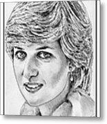 Diana - Princess Of Wales In 1981 Metal Print by J McCombie