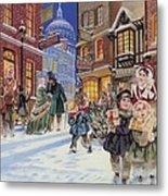 Dickensian Christmas Scene Metal Print by Angus McBride