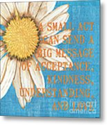 Dictionary Florals 4 Metal Print by Debbie DeWitt