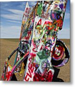Did Not Notice The Stop Sign Metal Print by Elena Nosyreva