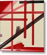Different Dimensions 9 Metal Print by Arie Van der Wijst