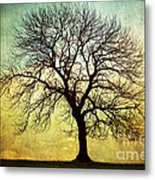 Digital Art Tree Silhouette Metal Print by Natalie Kinnear