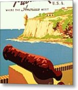 Discover Puerto Rico Metal Print by Pg Reproductions