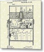 Display Apparatus 1890 Patent Art Metal Print by Prior Art Design