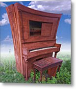 Distorted Upright Piano 2 Metal Print by Mike McGlothlen