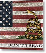 Do Not Tread On Us Flag Metal Print by Daniel Hagerman