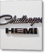 Dodge Challenger Hemi Emblem Metal Print by Jill Reger