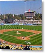 Dodger Stadium Panorama Metal Print by Eddie Yerkish