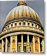 Dome Of St. Paul's Cathedral Metal Print by Christi Kraft