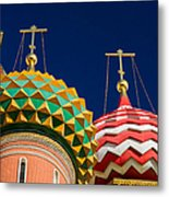 Domes Of Vasily The Blessed Cathedral - Feature 3 Metal Print by Alexander Senin