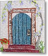 Door With Many Languages Metal Print by Stephanie Callsen