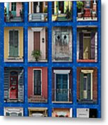 Doors Of New Orleans Metal Print by Heidi Hermes