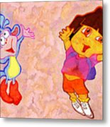 Dora And Boots Metal Print by George Rossidis