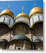 Dormition Cathedral - Square Metal Print by Alexander Senin