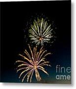 Double Fireworks Blast Metal Print by Robert Bales
