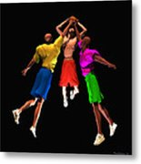 Double Teamed Metal Print by Walter Oliver Neal