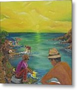 Down By The River Metal Print by Barbara Hayes