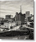 Downtown Houston From Uh-d Metal Print by Silvio Ligutti
