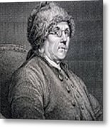 Dr Benjamin Franklin Metal Print by English School