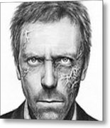 Dr. Gregory House - House Md Metal Print by Olga Shvartsur
