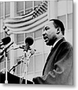 Dr Martin Luther King Jr Metal Print by Benjamin Yeager