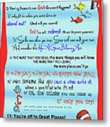 Dr Seuss - Quotes To Change Your Life Metal Print by Georgia Fowler