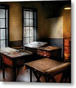 Draftsman - The Drafting Room Metal Print by Mike Savad