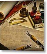 Draftsman - The Ship Builder  Metal Print by Paul Ward