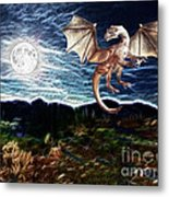 Dragon Night Metal Print by Methune Hively