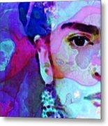 Dreaming Of Frida - Art By Sharon Cummings Metal Print by Sharon Cummings