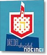Dreidels Metal Print by Linda Woods
