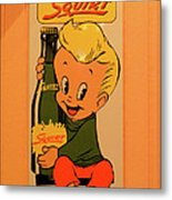 Drink Squirt Sign Metal Print by Thomas Woolworth