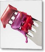 Dripping Lipstick Metal Print by Garry Gay
