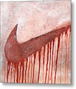 Dripping Nike Metal Print by Anwar Braxton