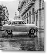 Driving In The Rain Metal Print by Erik Brede