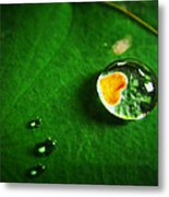 Droplet Of Love Metal Print by Suradej Chuephanich