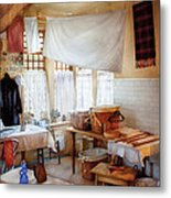 Dry Cleaner - The Laundry Room Metal Print by Mike Savad