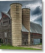 Dual Silos Metal Print by Paul Freidlund