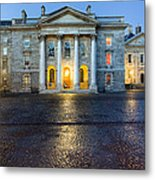 Dublin Trinity College Chapel At Night Metal Print by Mark E Tisdale