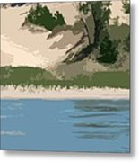 Dunes Of Lake Michigan Metal Print by Michelle Calkins