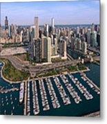 Dusable Harbor Chicago Metal Print by Steve Gadomski