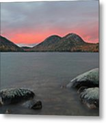 Dusk At Jordan Pond And The Bubbles Metal Print by Juergen Roth