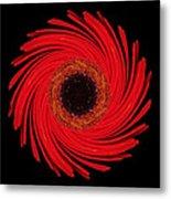 Dying Amaryllis Flower Mandala Metal Print by David J Bookbinder