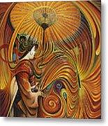 Dynamic Oriental Metal Print by Ricardo Chavez-Mendez