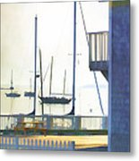 Early Morning Camden Harbor Maine Metal Print by Carol Leigh