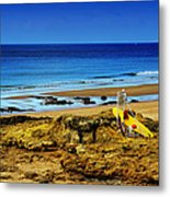 Early Morning On The Beach Metal Print by Marco Oliveira