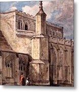 East Bergholt Church, Northside Metal Print by John Constable